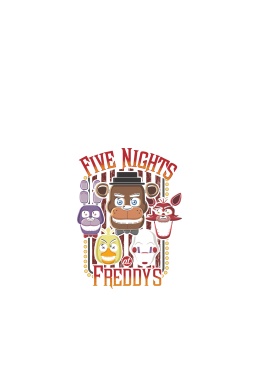 Five Nights At Freddy's Multi-Character Design, tricou copii-rosu