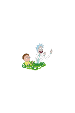 Flip them off - Rick and Morty,