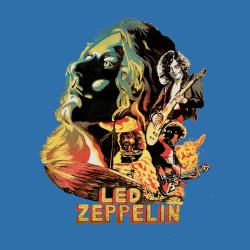 Led Zeppelin - Painted poster