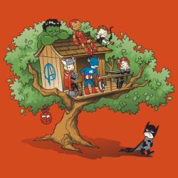 Avengers house in a tree