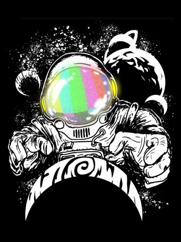 5 dimensional astronaut god