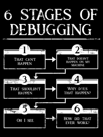 6 Stages Of Debugging Computer Programming
