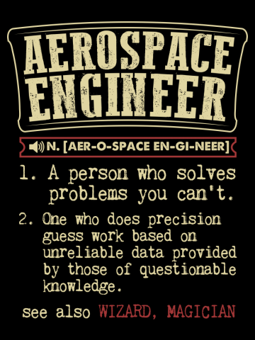 Aerospace Engineer Funny Dictionary Term