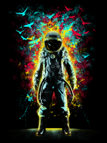 Amazing astronaut