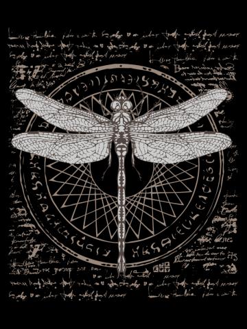 Ancient Science Dragonfly Study - Alchemy Symbol