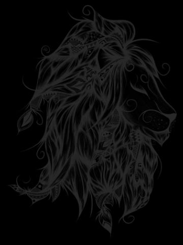 Artistic crayon lion