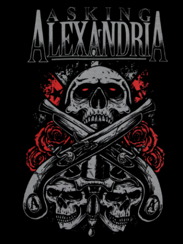 Asking Alexandria - Skulls & Guns Logo