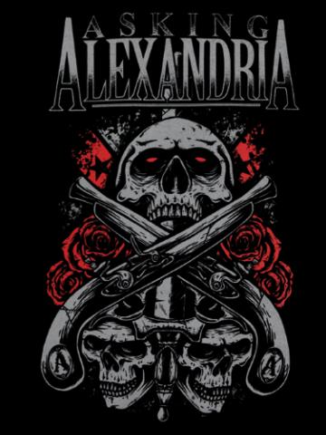 Asking Alexandria - Skulls & Guns Logo