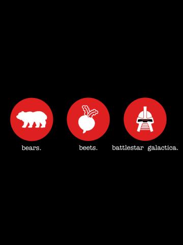 Bears Beets Battlestar Galactica