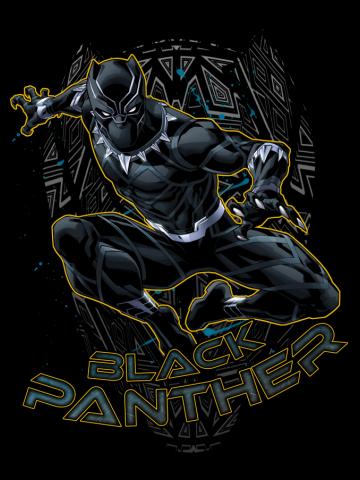 Black Panther Geometric Mask
