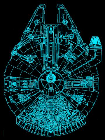 Blue Millennium Falcon