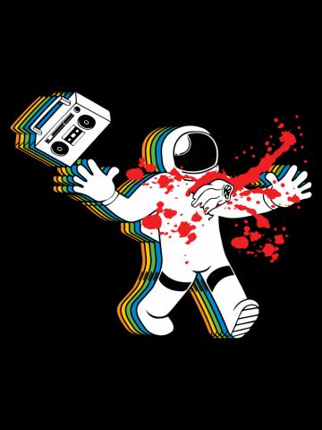 Boombox Astronaut Alien Chestburster Parody