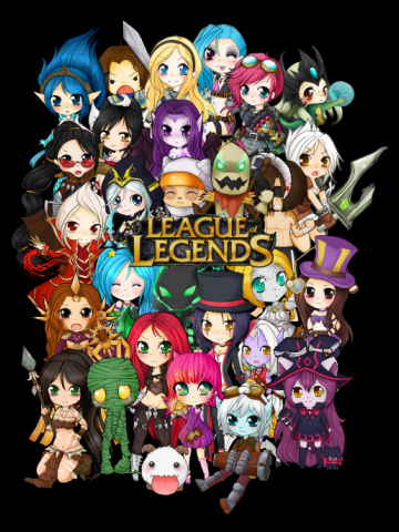 Chibi League of Legends group