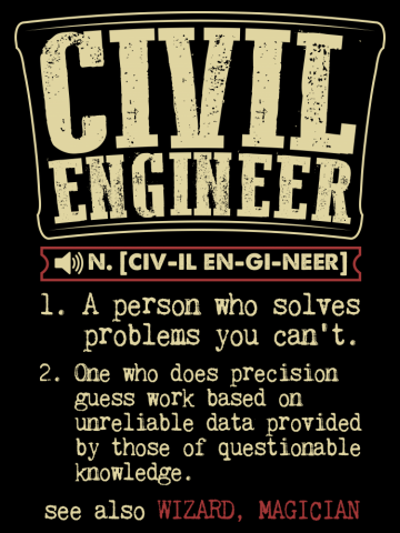 Civil Engineer Funny Dictionary Term