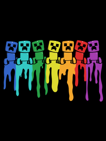Creeper Rainbow - Minecraft