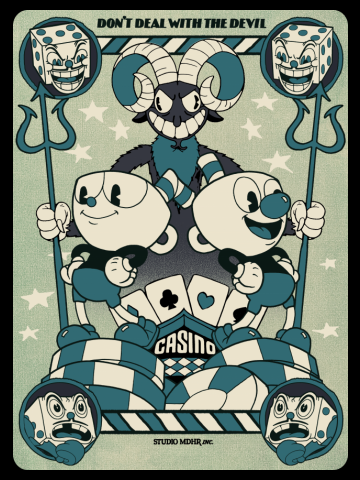 Cuphead Playing Card