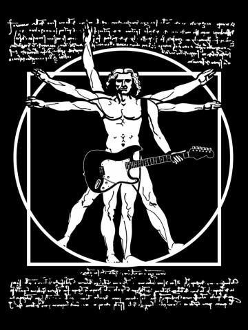 Da Vinci Guitar - Vitruvian Man Guitarist