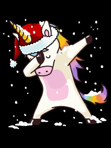 Dabbing Unicorn Shirt Hip Hop Dab Santa Hat Christmas Shirt IV