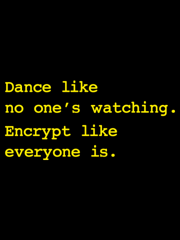 Dance Like No One's Watching Encrypt Like Everyone Is