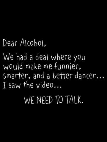 Dear Alchohol