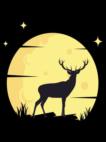 Deer in the Moon