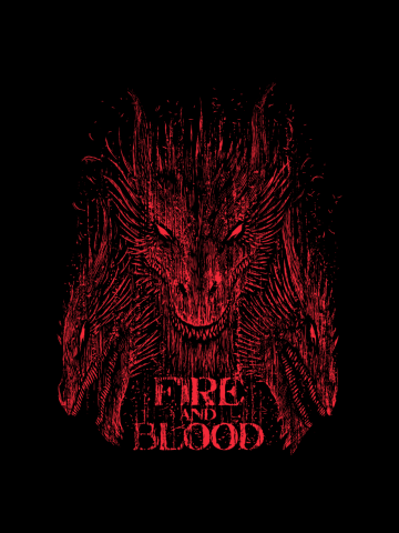 Distressed Fire & Blood - Game of Thrones