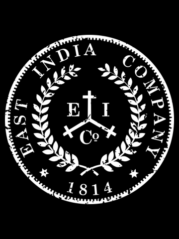 East India Company Coin Logo Distressed
