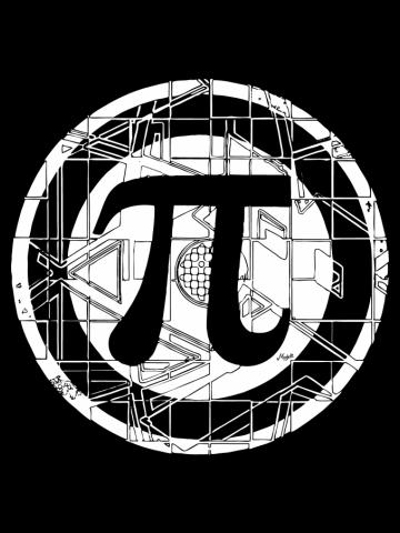 Epic Pi Day Symbol White