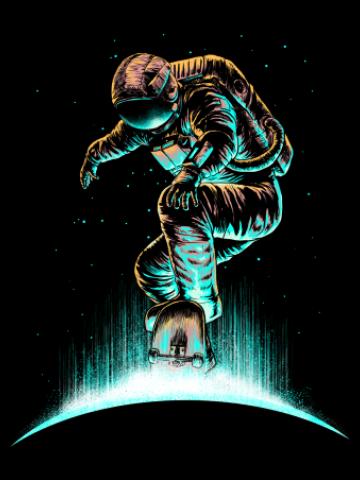 Epic skater astronaut