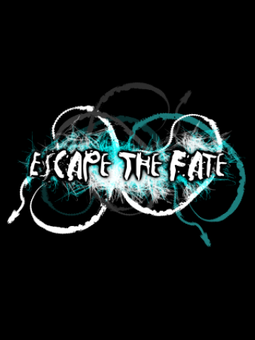 Escape the fate - Wh&Blue logo