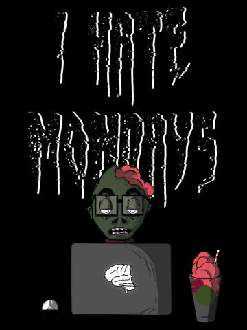 Filtru I hate Mondays Black