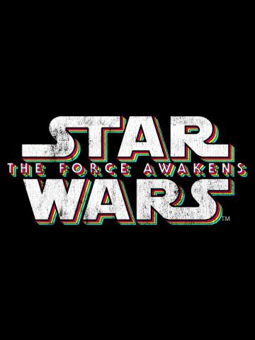 Force Awakens Distressed Logo