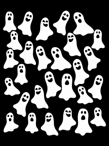 Ghosts everywhere for Halloween