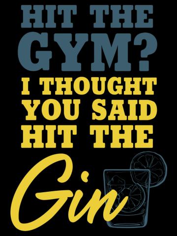 Gin Lover Shirt Tonic & Lemon Funny Gym Drinking Gift T-Shirt
