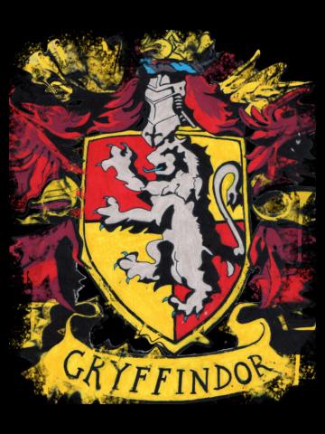 Gryffindor splatter crest