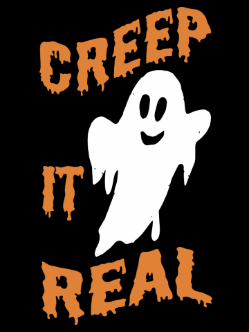 "Halloween ""Creep it Real"" Ghost Adults  & Kids T-Shirt"