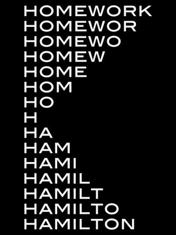 Hamilton homework