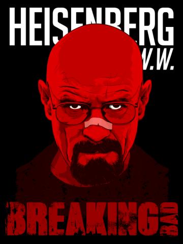 Heisenberg - Red Br Ba Poster