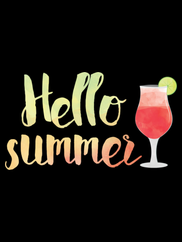 Hello Summer Drinks Watercolour
