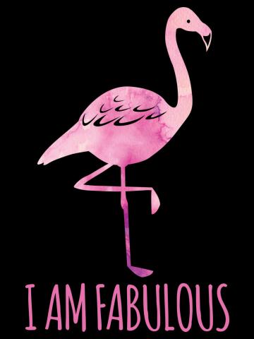 I am a Fabulous Pink Watercolour Flamingo