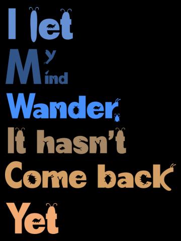 I let my mind wander