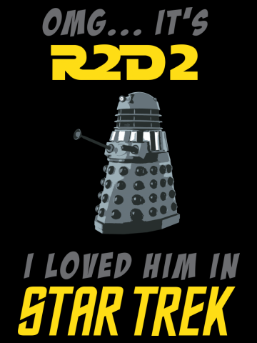 It's R2D2 (Yellow Text)