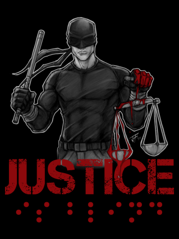 JUSTICE IS BLIND!