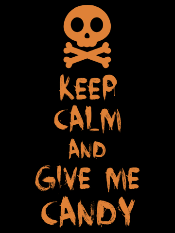 Keep Calm And Give Me Candy Halloween Skull Bones Adults  & Kids