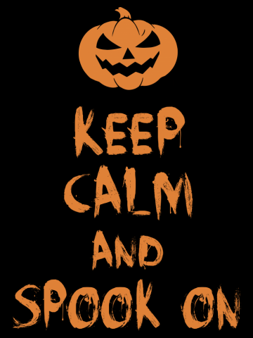 Keep Calm And Spook On Halloween Scary Pumpkin Adults  & Kids T-