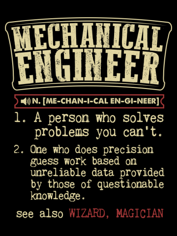 Mechanical Engineer Dictionary Term T-Shirt