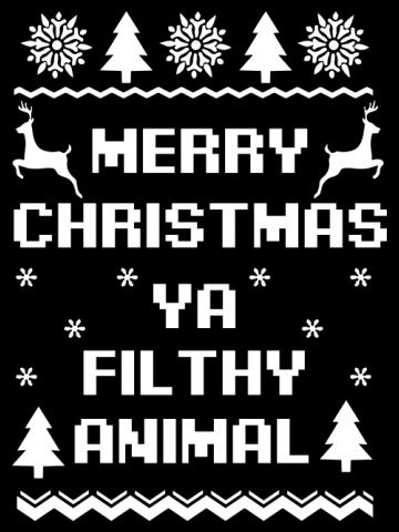 Merry Christmas Filthy Animal - color