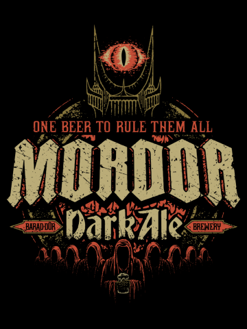 Mordor Dark Ale - Lord of the Rings