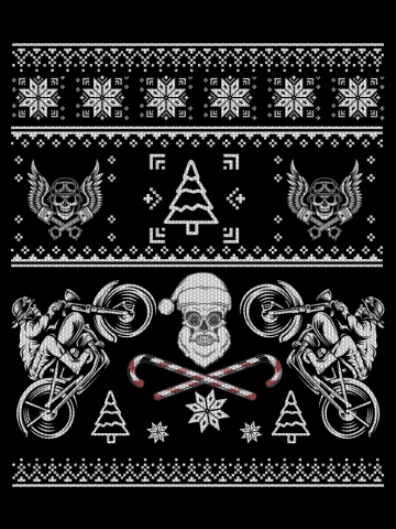 Motorcycle Biker Ugly Christmas