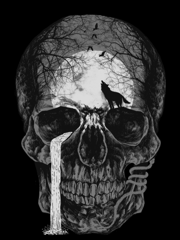 Natural soul skull